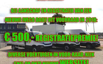 500,- registratiepremie op onze voorraad auto's in 2018!
