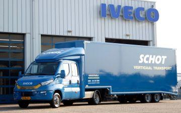 Schot Verticaal transport - Iveco Daily 50C18a8 trekker